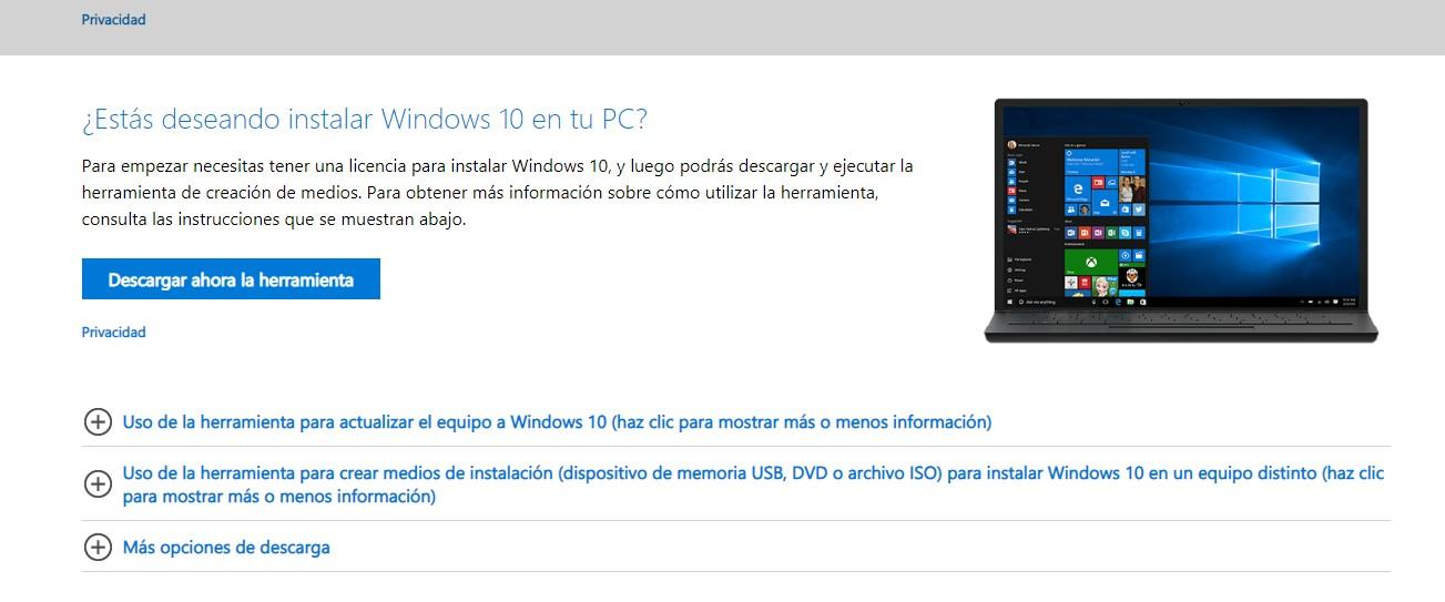 obtener windows10